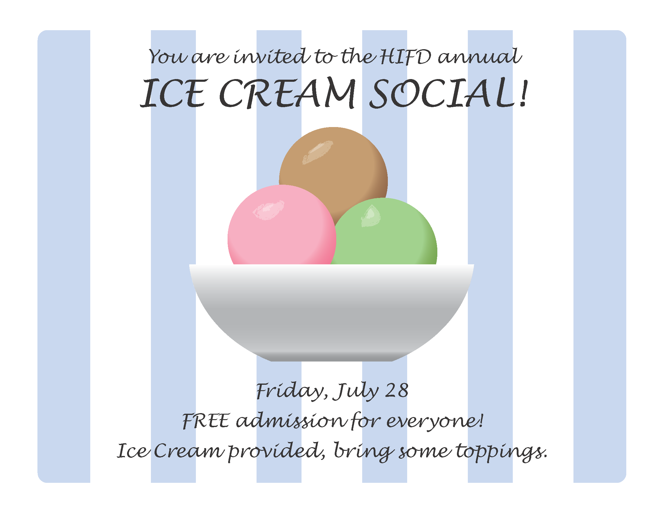 ice cream flier